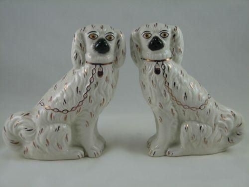 Antique Staffordshire Porcelain Dog