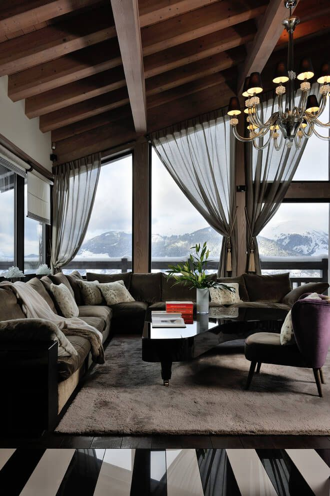 luxury chalet by jean marc and anne sophie mouchet interior pinterest interiores. Black Bedroom Furniture Sets. Home Design Ideas