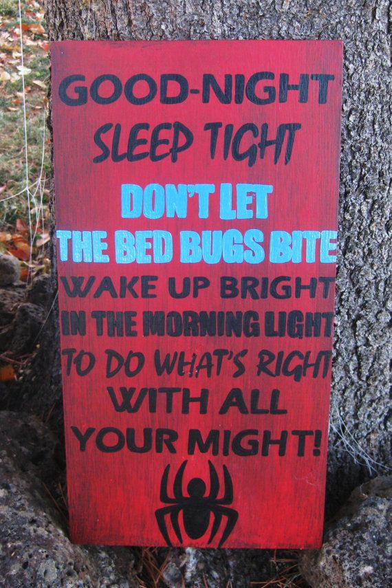 Don't let the bed bugs bite sign by LittleTownHomeDecor on