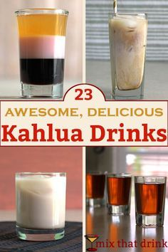 There's nothing else quite like the sweet coffee flavor of Kahlua. This collection of Kahlua drinks shows off the range and versatility of this delicious liqueur. We've got frozen drinks,  shots, doubles and more.