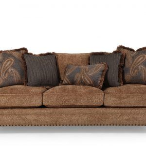Bernhardt Vincent Leather Sleeper Sofa