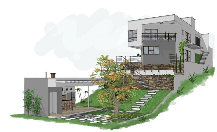 Pin de skarleth m sanchez en house plan en 2019 casas - Terreno con casa ...