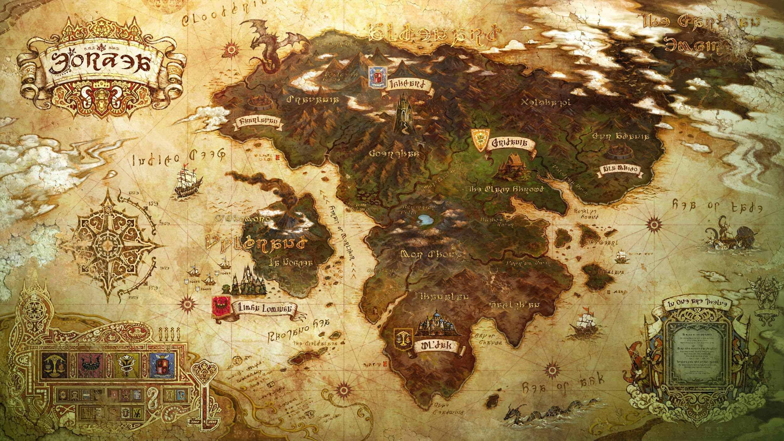 Ffxiv maps eorzea region uneditedg 25001407 map fantasy world map gumiabroncs Choice Image