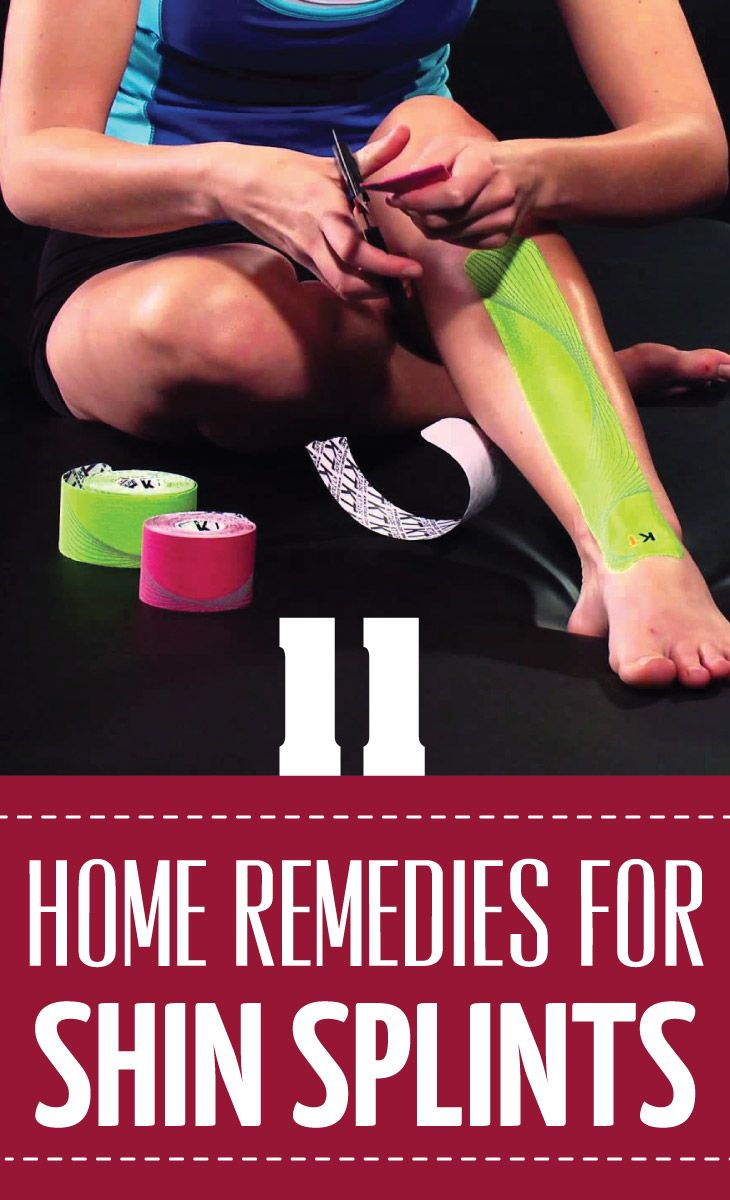 how to tape shin splints with medical tape