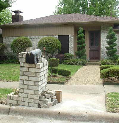 stone mailbox designs. Stone Mailbox Designs | Flower Planter, Custom Address Block And A Large P