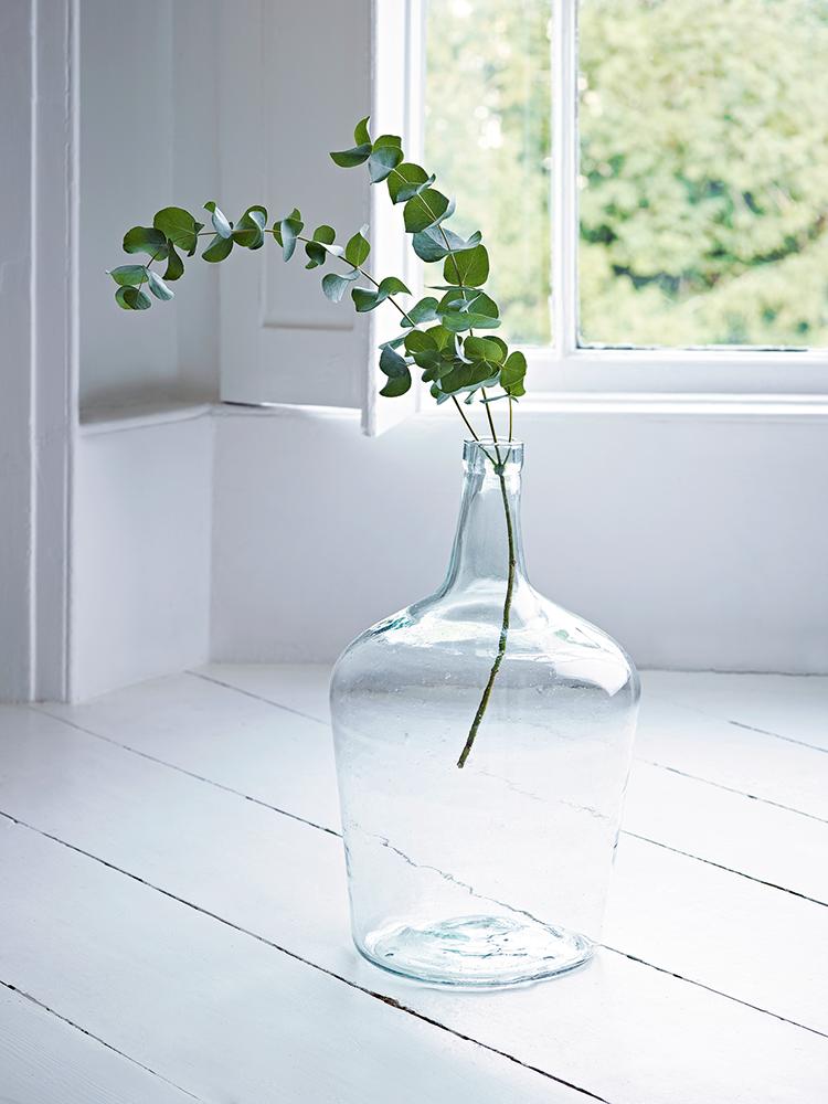 Recycled Glass Demi John Vase Large Glass Vase Decor Large Glass Vase Glass Vase Decor
