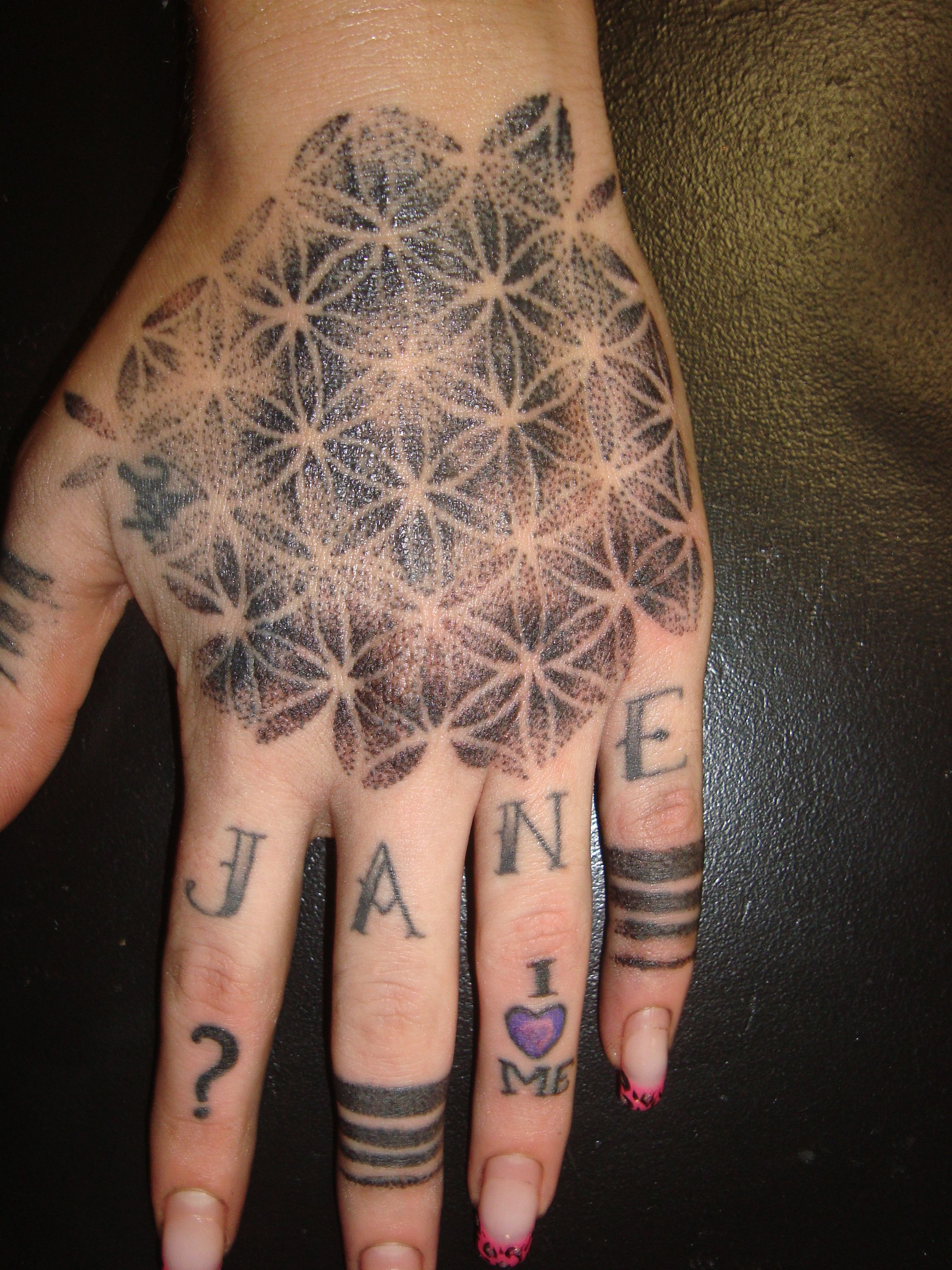 Dotwork tattoo tattoo pinterest flower of life tattoo tattoos tattoo dotwork tattoo mary jane tattoo dotwork artist stockholm i like the bands around her fingers izmirmasajfo