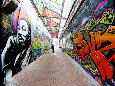 This Mlk Mural Popped Up In Graffiti Alley This Weekend Just In