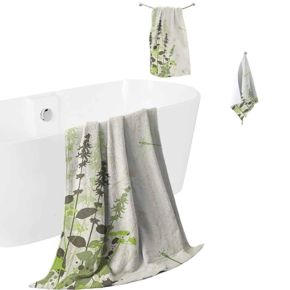 Hengshu Dragonfly Microfiber Bath Towel Sets Extra Large Nature