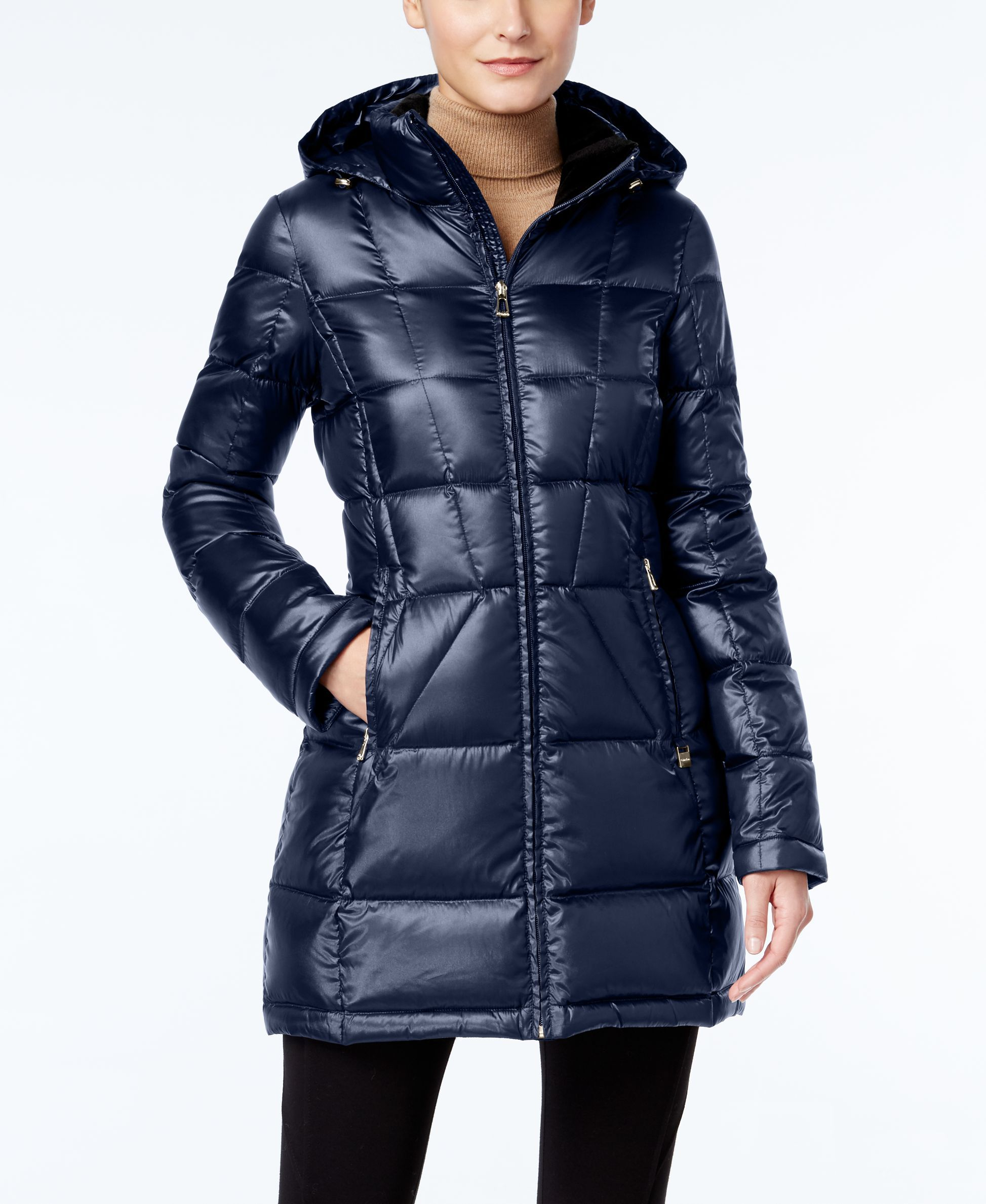 d308c27be Calvin Klein Hooded Packable Down Puffer Coat   jackets   Down ...