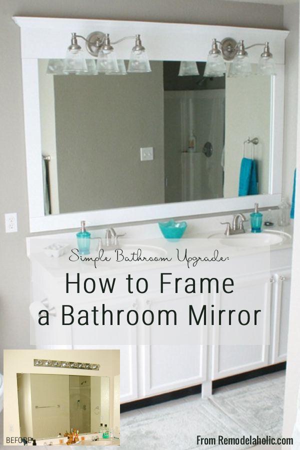 Framing A Large Bathroom Mirror In 2020 Large Bathroom Mirrors Bathroom Mirrors Diy Bathroom Mirror
