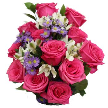 Fiftyflowers rose flower centerpiece hot pop pink should fiftyflowers rose flower centerpiece hot pop pink mightylinksfo Images