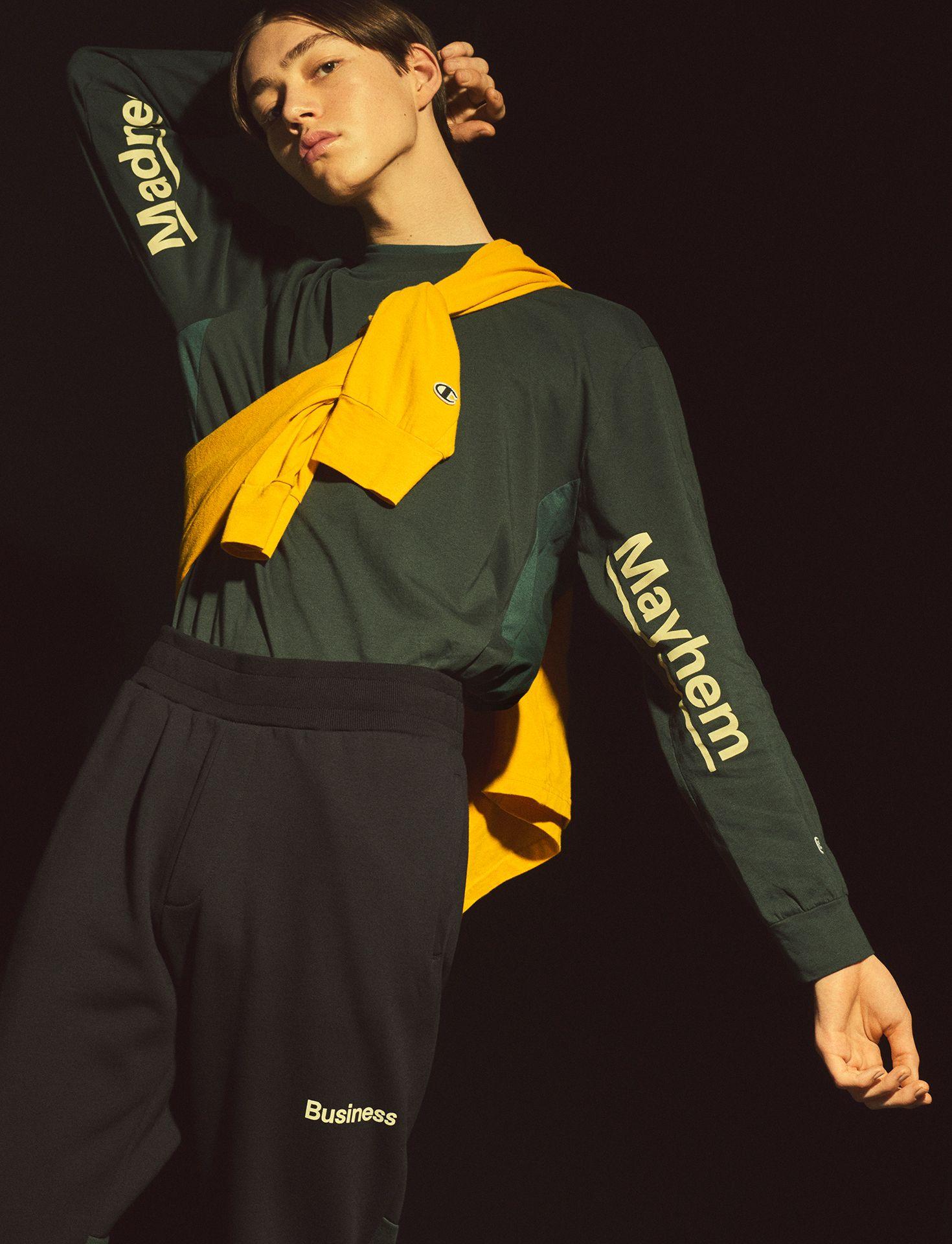 e00498f06 ... of WOOD WOOD and classic American sportswear brand Champion. Streetwear  essentials reimagined. Shop online. #champion #woodwood #fashion #streetwear