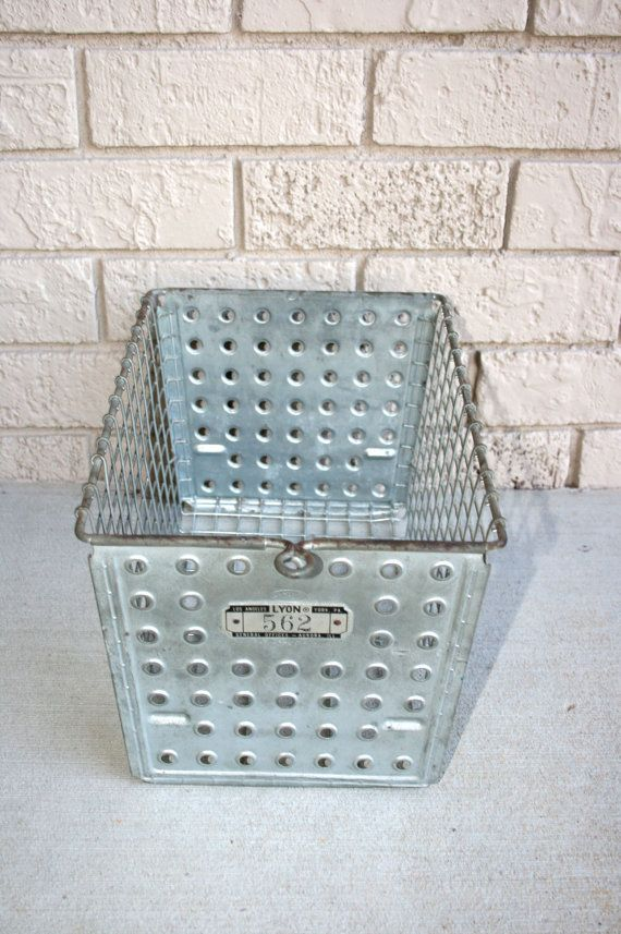 Lyon Industrial Metal Wire Gym Locker//Storage Baskets With Numbered ...