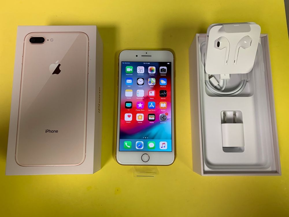 Apple Iphone 8 Plus 256gb Gold At T Only A1897 Gsm New Affordable Cell Phone Plans Iphone 8 Plus Cell Phone Plans