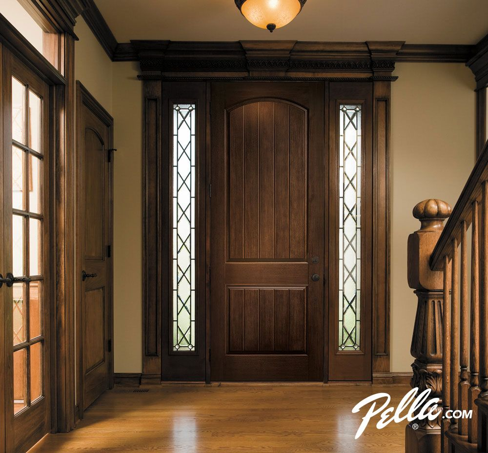 Create Rustic Charm In Your Entryway Add Decorative Glass Sidelights Pella Architect Series Entry Door