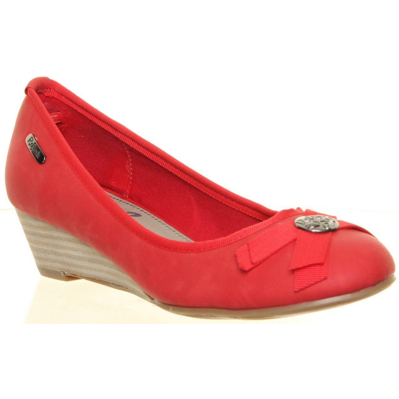 Refresh Red Low Wedge Pump - summer is coming!