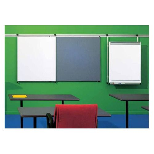 Peter pepper tactics plus track mounted level flip chart assembly with pen rail and pad holder wayfair also wall whiteboard   rh pinterest
