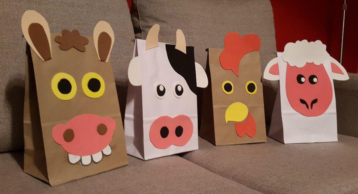 Bolsas De Sorpresitas Animales De Granja 35 00 En Mercado Libre Bolsas De Sorpresas Fiesta De Animales De Granja Bolsitas Para Cumpleaños