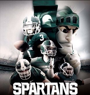 Michigan State Spartans Poster Michigan State Spartans Football Michigan State Football Michigan State