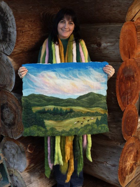 The Brilliant Felted Landscapes of Tracey McCracken Palmer