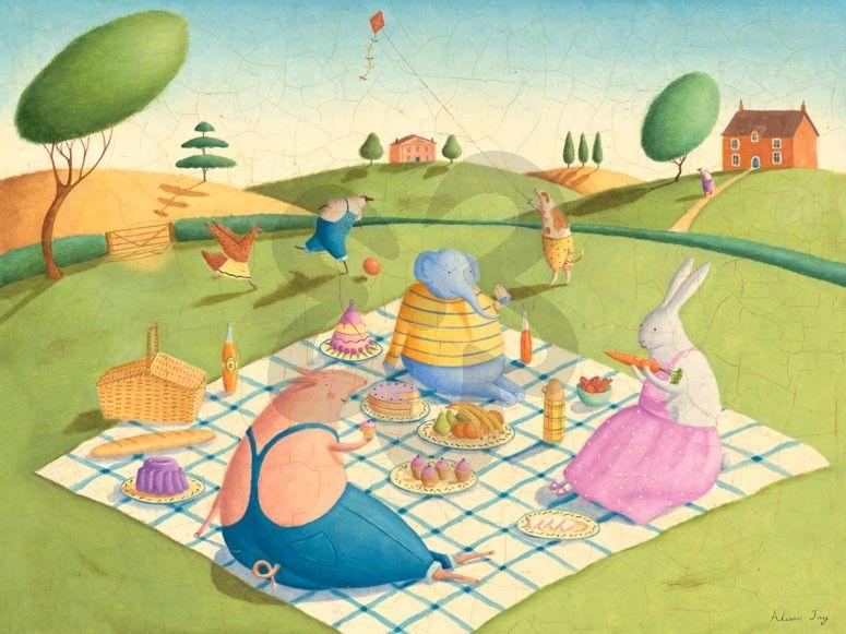 Animal Picnic - Animals Canvas Wall Art | Oopsy daisy | nursery ...