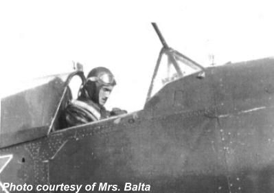 Constantin Balta in the cockpit of his IAR-81C.