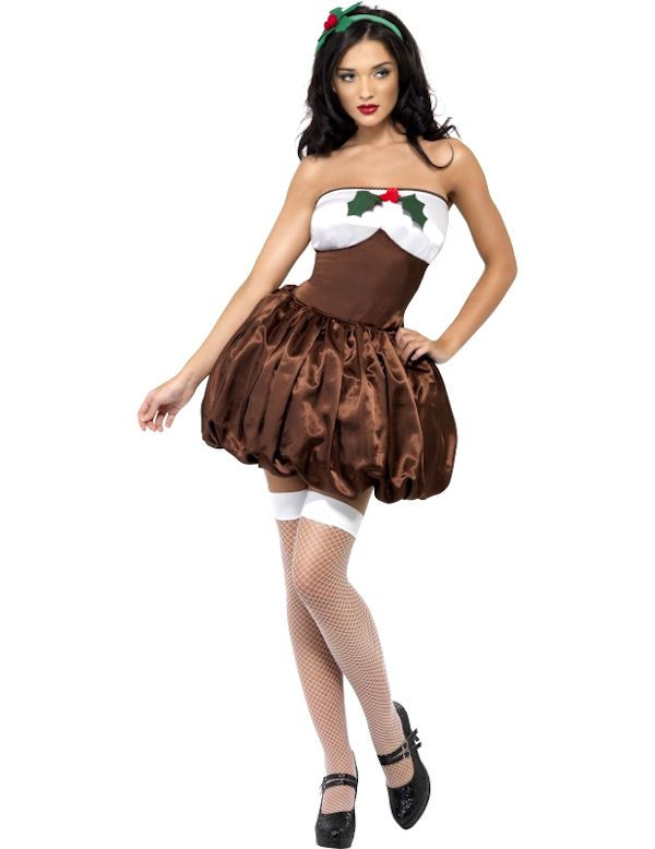 Sexy Christmas Pudding Costume | Simply Fancy Dress - Sexy Christmas Pudding Costume Simply Fancy Dress Cosplay