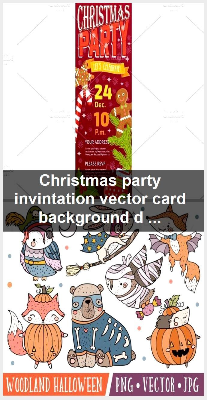 Christmas party invintation vector card background design template for noel Xmas Christmas party invintation vector card background design template for noel Xmas