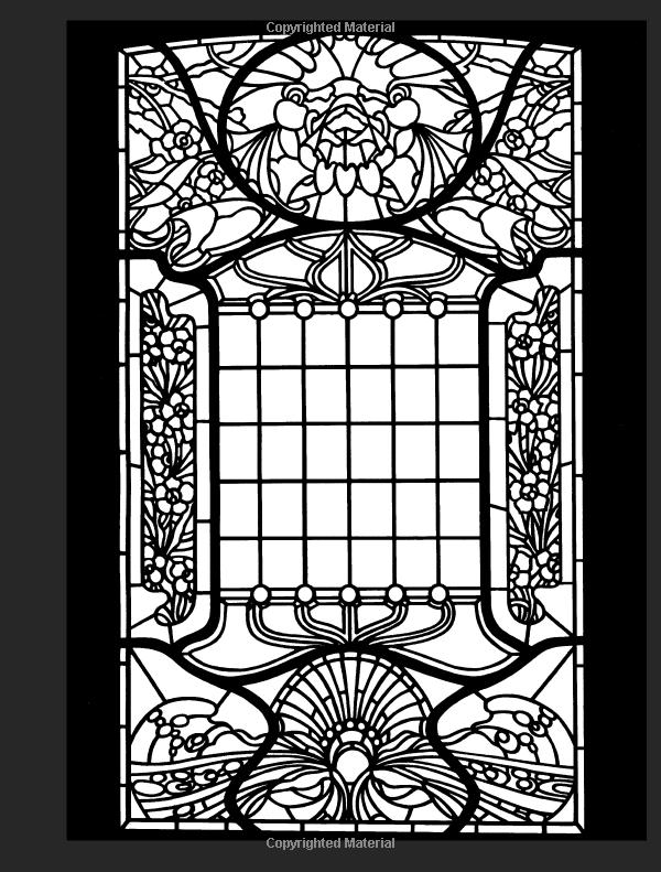 Robot Check Art Window Stained Art Nouveau