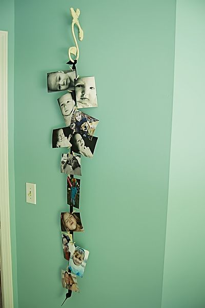 Another way to hang pictures w/o holes.