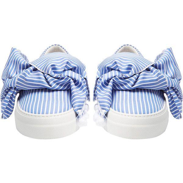 bow wide stripe sneakers - Blue Joshua Sanders La Mejor Venta En Línea a5J45SVL
