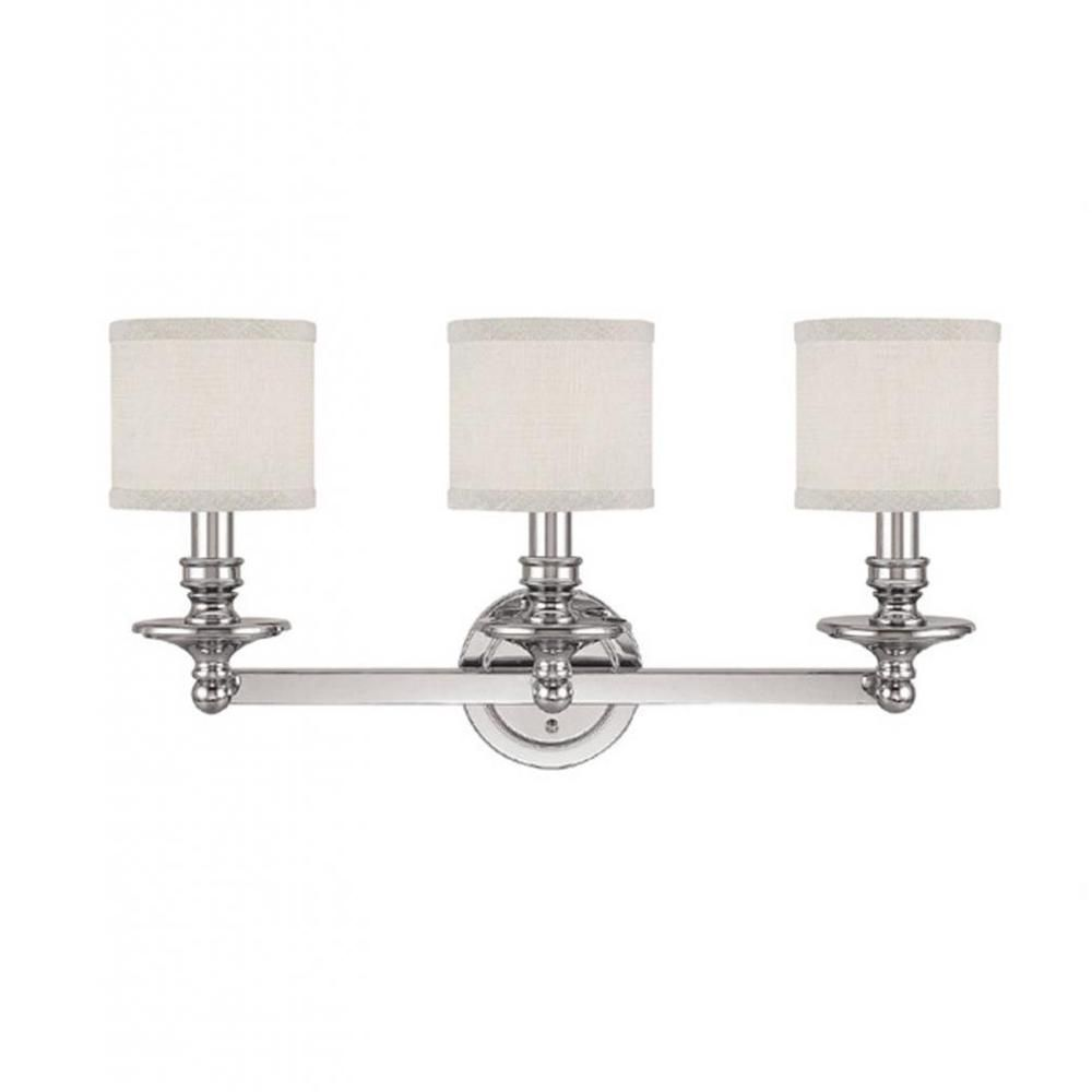 Capital Lighting Midtown Collection 3-light Polished Nickel Bath/Vanity Light - Overstock™ Shopping - Top Rated Capital Lighting Sconces & Vanities