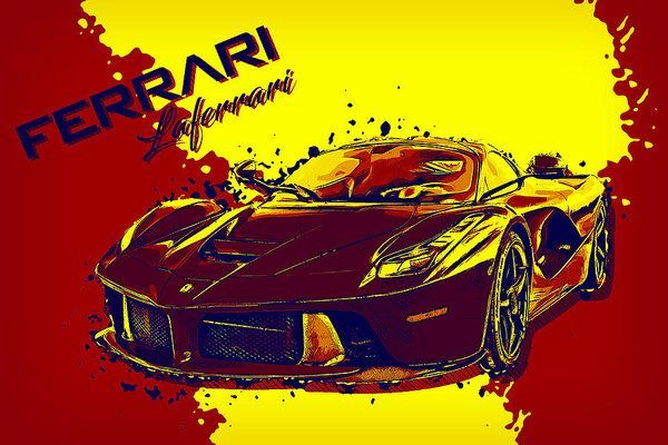 Ferrari Laferrari Luxury Art by VPPDGryphon Ferrari Laferrari Luxury Art by VPPDGryphon.  Framed Pr