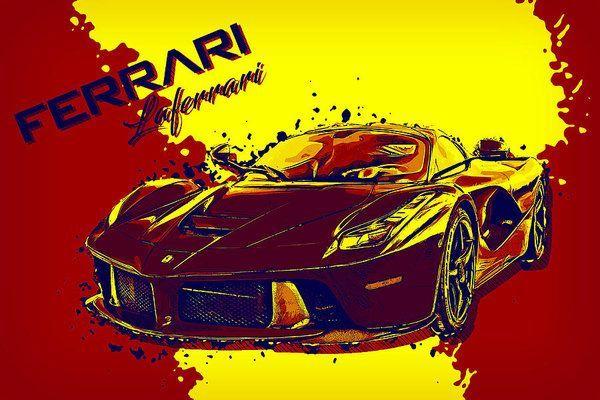 Ferrari Laferrari Luxury Art by VPPDGryphon Ferrari Laferrari Luxury Art by VPPDGryphon. Framed Pr