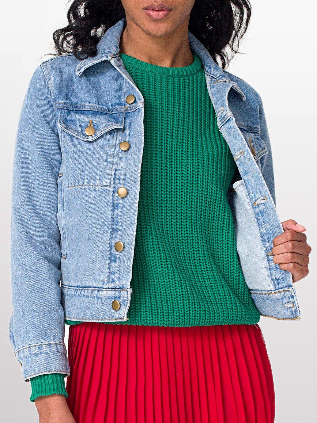 Unisex Denim Jacket | Denim | New & Now's Women | American Apparel