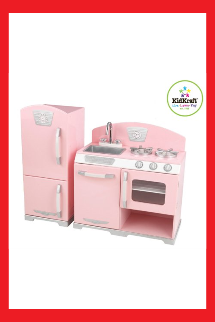 Kidkraft Retro Kitchen and Refrigerator in Pink   Toys in 2019 ...