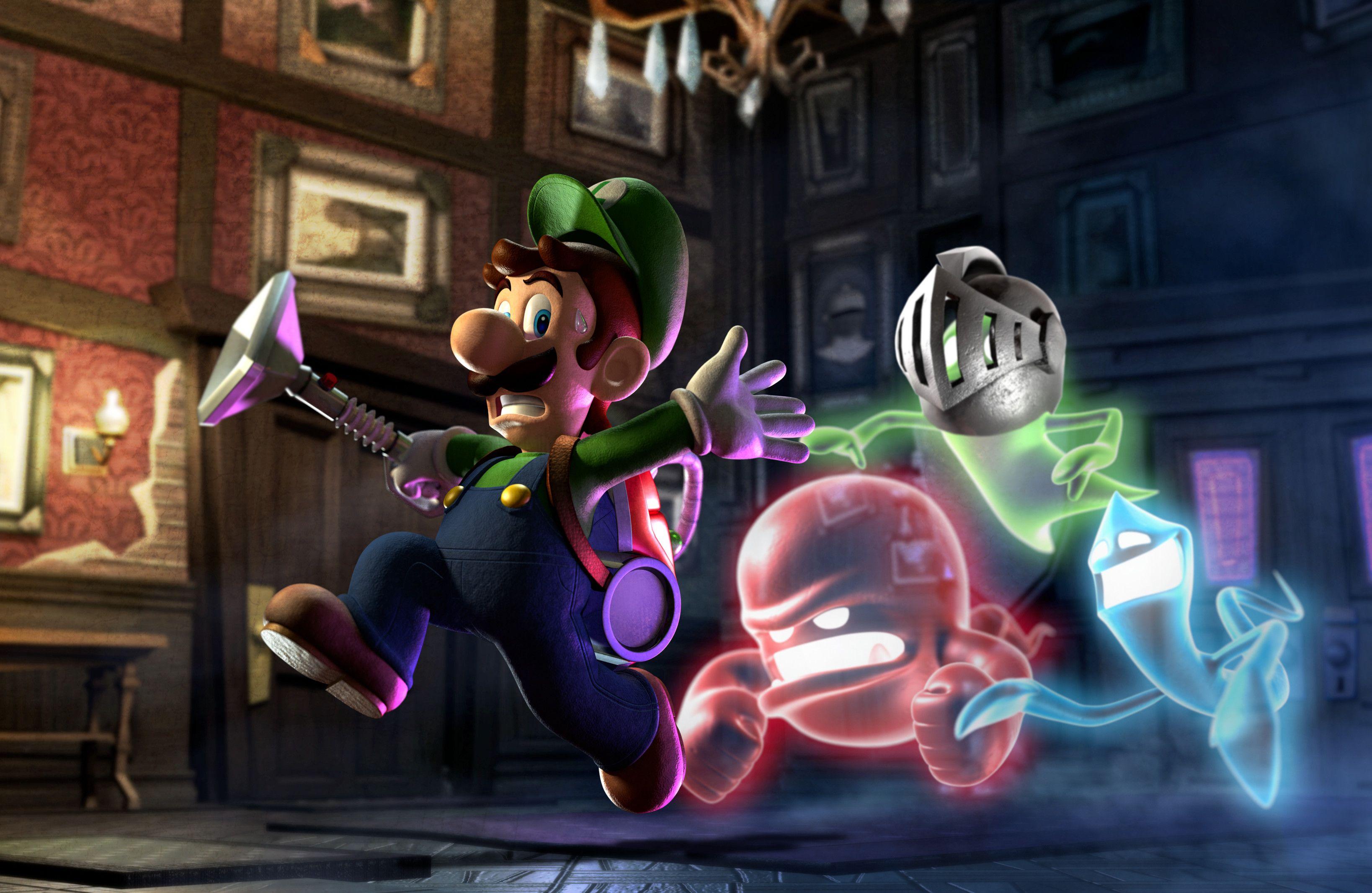 Luigi S Mansion Dark Moon Wallpaper Google Search