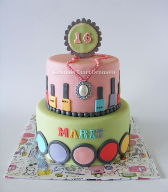 Nail Cake: Nail Polish / Make Up Cake * Made By Http://www.facebook