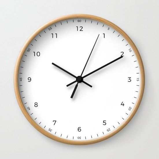 Bauhaus Wall Clock Modern White Wall Clock By Lambornstudio White Wall Clocks Large Wall Clock Wall Clock