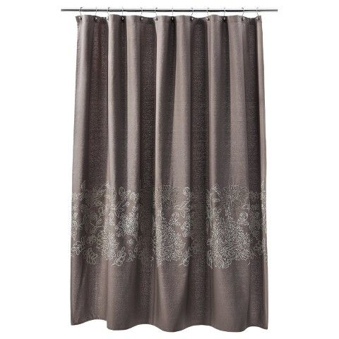 Threshold™ Floral Shower Curtain - Brown Linen | CURTAINS ...