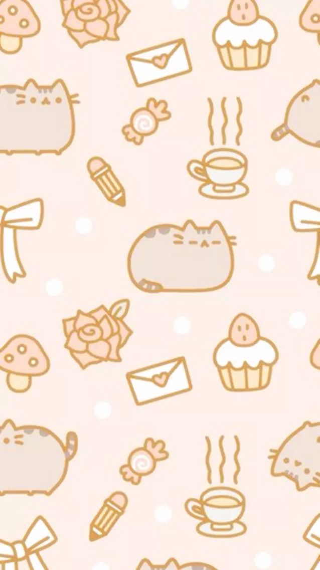 Pink Pusheen Phone Wallpaper Wallpaper Kawaii Pusheen Cat Cats