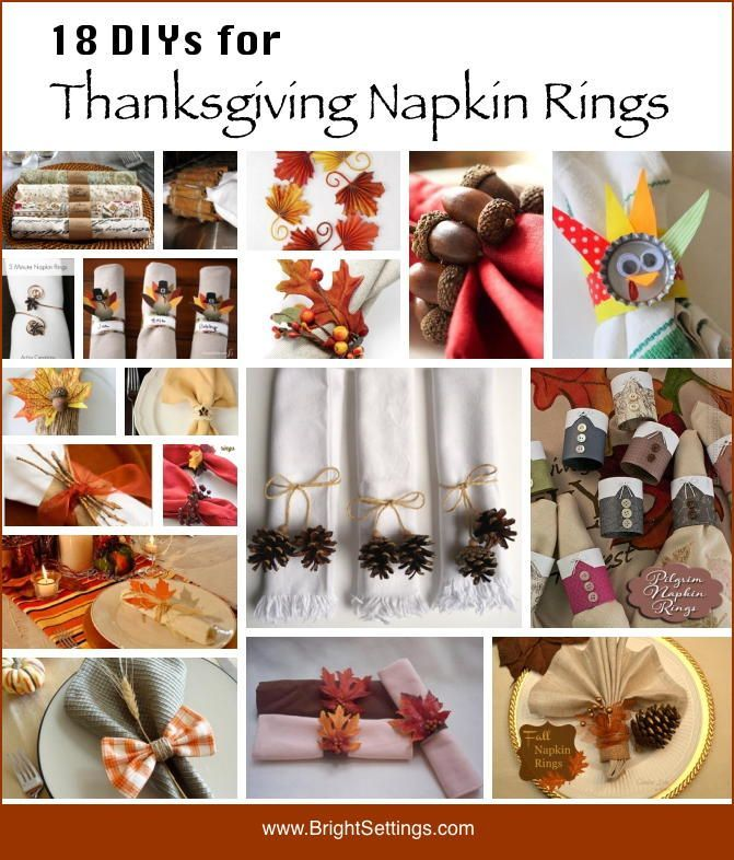Hereu0027s A Roundup Of 18 DIYs For Making Thanksgiving Napkin Rings. Most Of  These Tutorials Use Things You Probably Already Have In Your Craft Room!