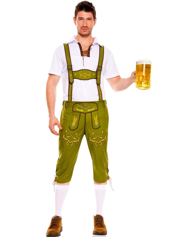 Mens Boys Oktoberfest Costume German Bavarian Lederhosen Beer Fancy Dress Outfit
