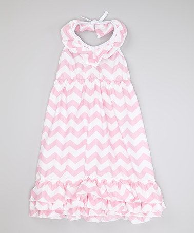 Another great find on #zulily! Pearl Pink Zigzag Dress - Toddler & Girls #zulilyfinds