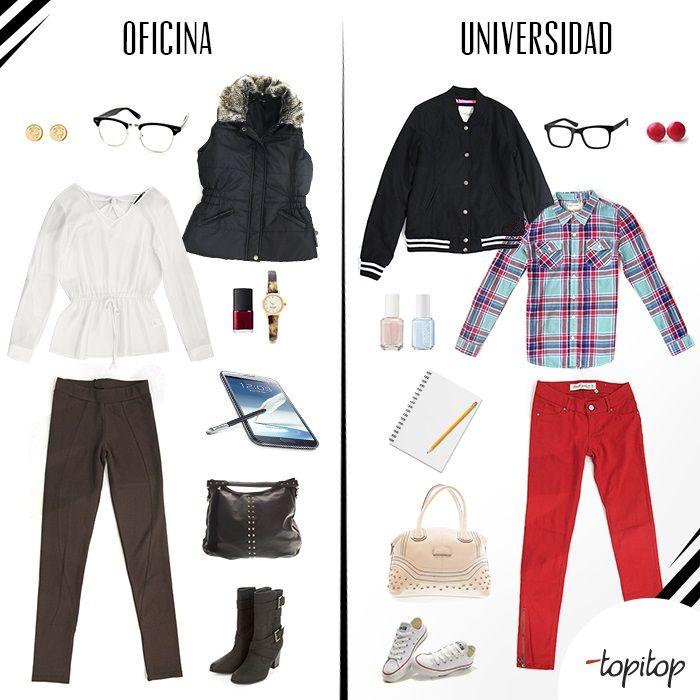 #Ideas para la universidad y oficina! Nos inspiramos? #outfit #fashion #trendy