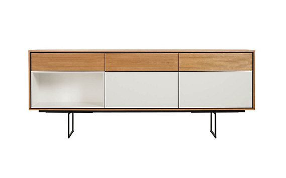 Aura Credenza // clean lines and craftsmanship. The raised steel base imparts the unit with a visual lightness