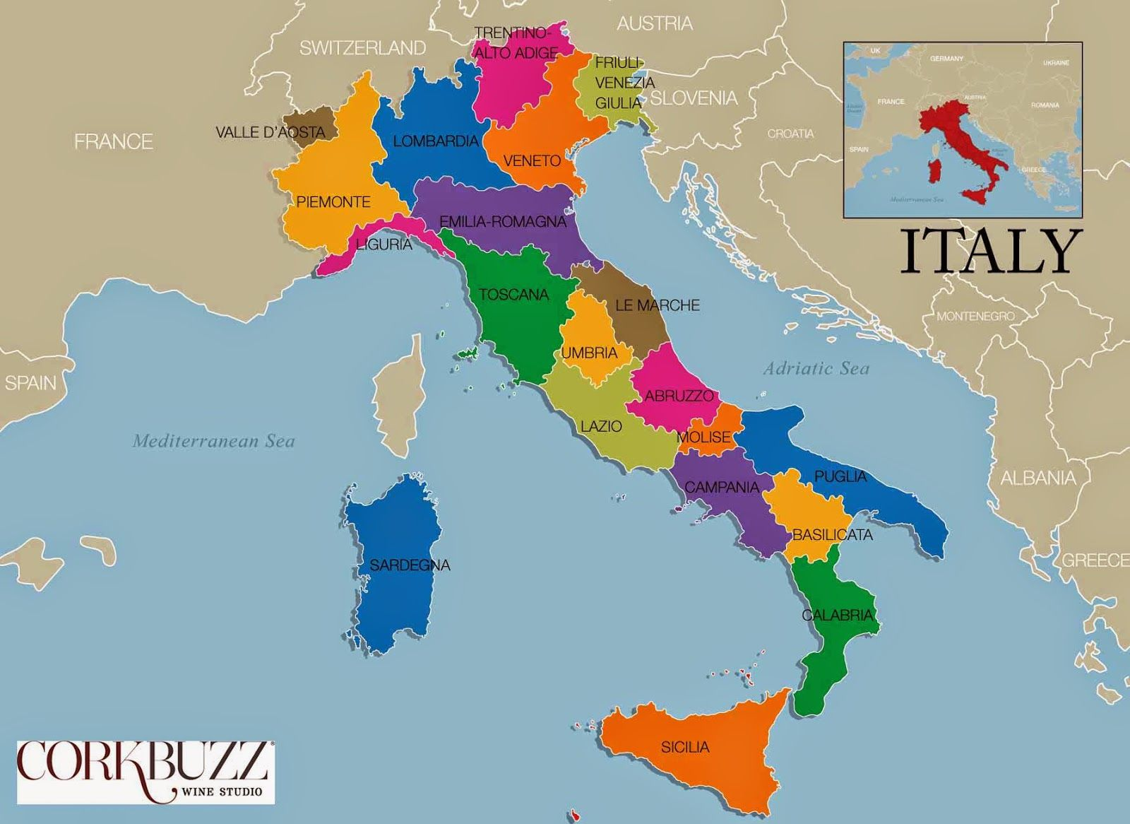 English In Italian: Regions Of Italy In English - Google Search