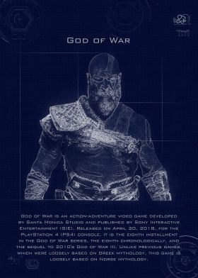 god of war blueprint | Displate thumbnail