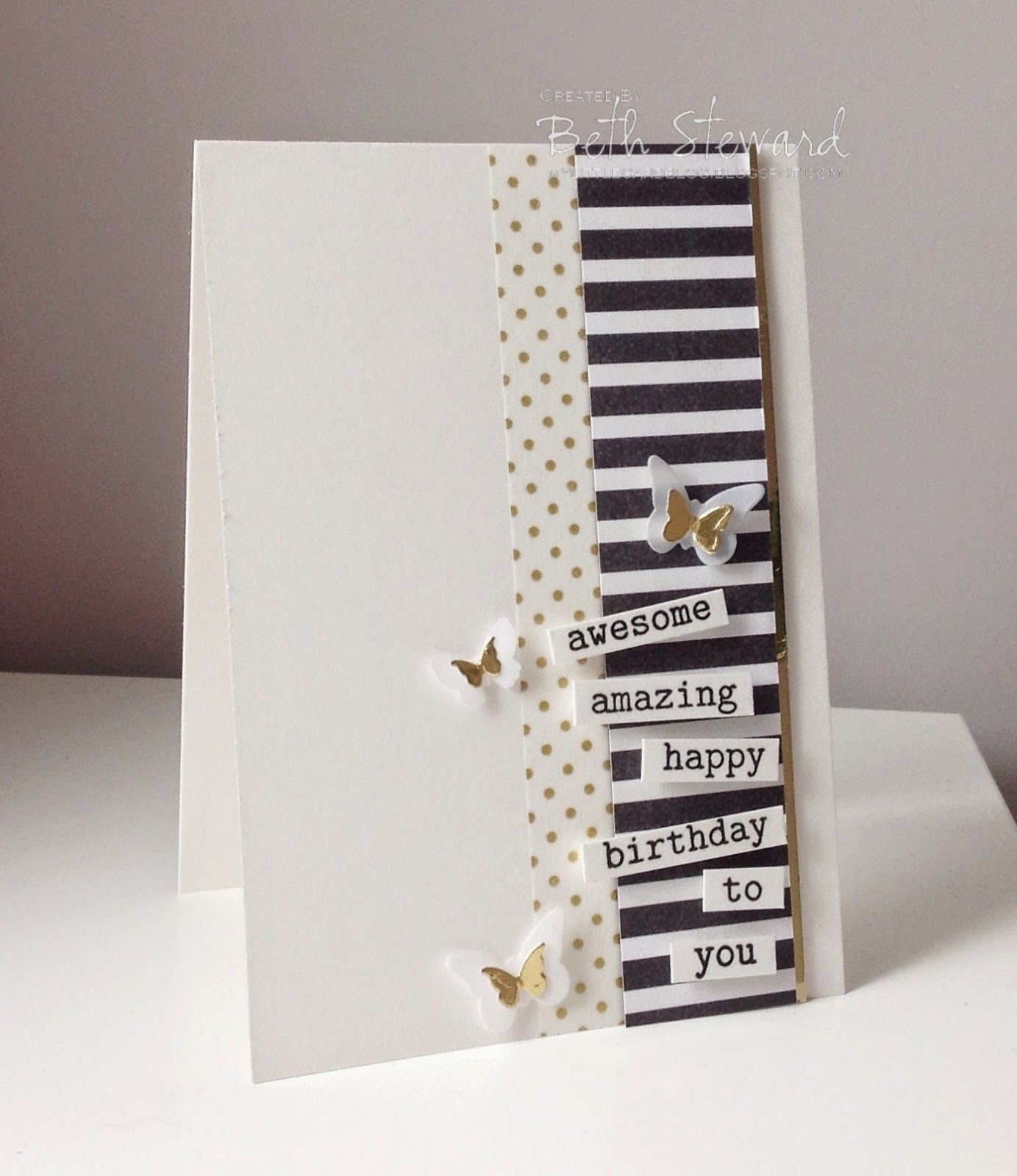 Bethus Little Card Blog Cards Clean and Simple II Pinterest